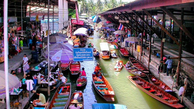 Fotos del Mercado Flotante de Bangkok (Tailandia)