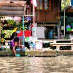 Casas Mercado Flotante Bangkok