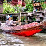 Barcas Mercado Flotante Bangkok