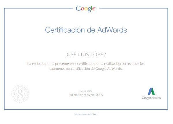 Certificados Personalizados AdWords