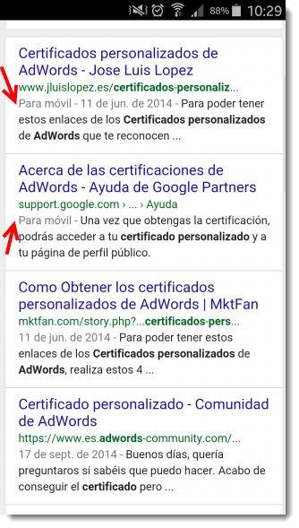 mensaje para movil google