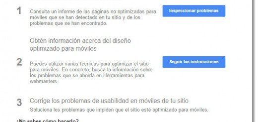 Usabilidad en móviles Google