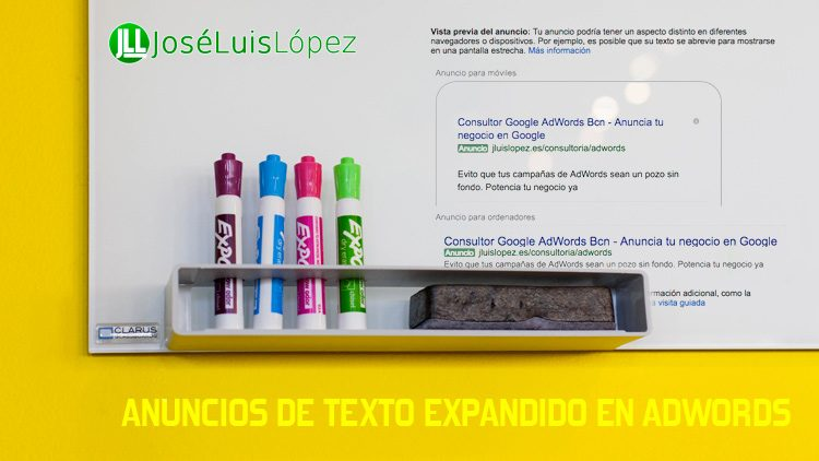 Anuncios de texto expandido en AdWords