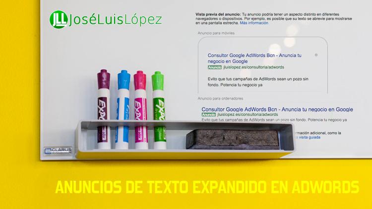 anuncios texto expandido