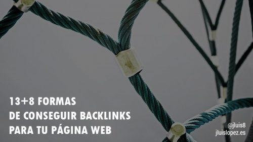 13+8 formas de conseguir backlinks para tu página web