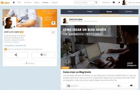 como crear blog gratis bebee