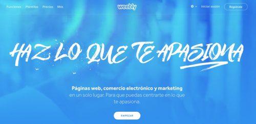 como crear blog gratis weebly