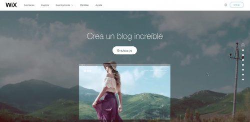 como crear blog gratis wix