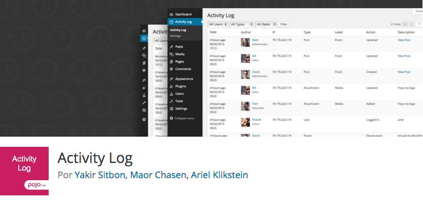 Activity Log es un plugin gratuito para WordPress