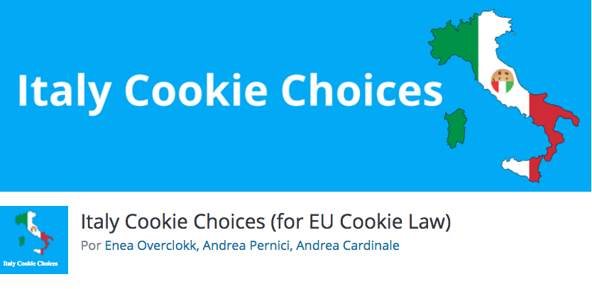 italy cookie choices wordpress plugin