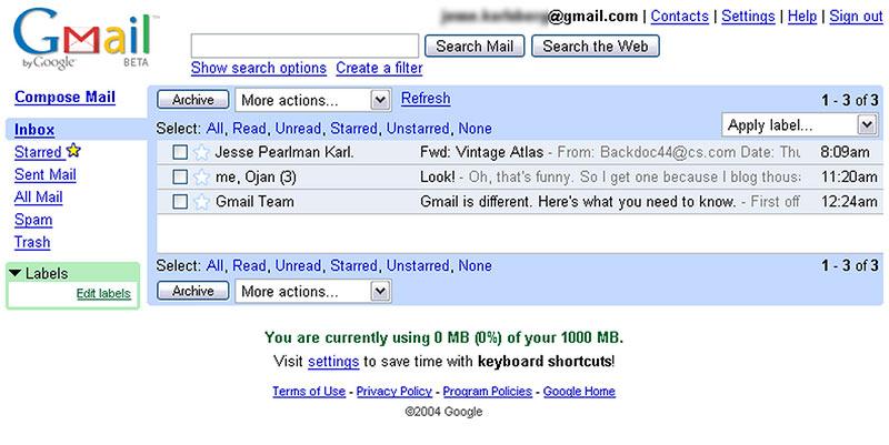 Historia de Gmail