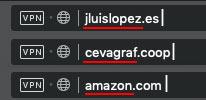 diferentes nombres dominio