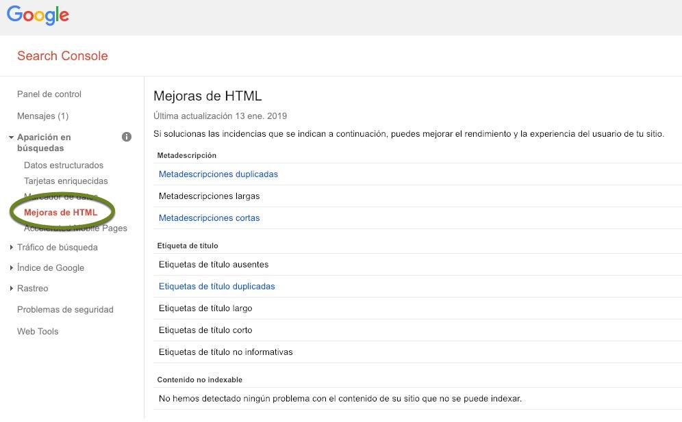 Informe de Mejoras HTML