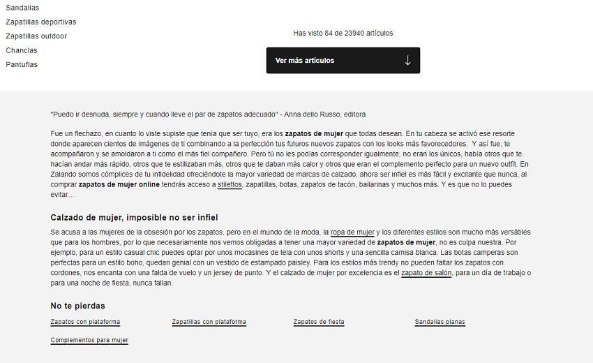 Optimización de categorías y Home Page