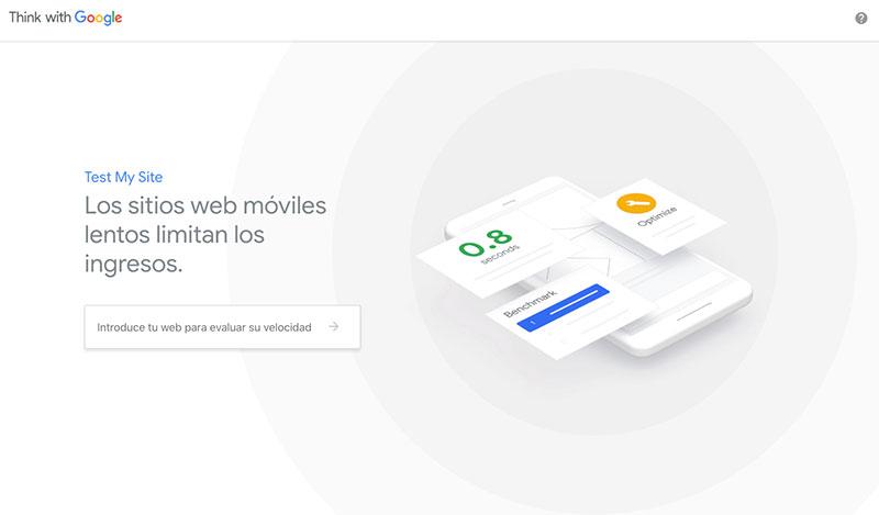 Prueba tu web desde Think With Google