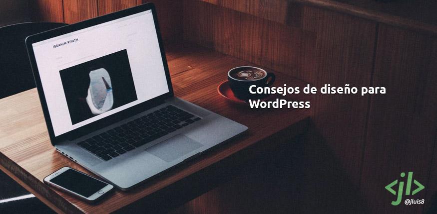 Consejos de diseño para WordPress